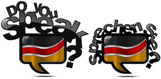 Do You Speak German - Two Speech Bubbles Royalty Free Stock Photo