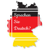 Do you speak German. Vector illustration Royalty Free Stock Photography