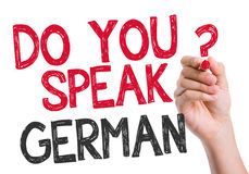 Do you speak German written on the wipe board Royalty Free Stock Photography