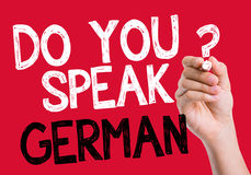 Do you speak German written on the wipe board Royalty Free Stock Photos