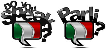 Do You Speak Italian - Two Speech Bubbles Royalty Free Stock Images