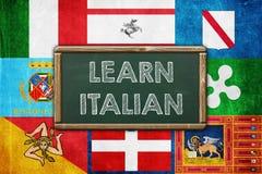 DO YOU SPEAK ITALIAN. Vintage background concept Stock Photos