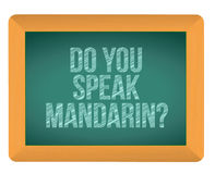 Do you speak mandarin blackboard Stock Images