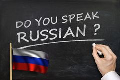 Do You speak Russian? Text written on blackboard Royalty Free Stock Photo