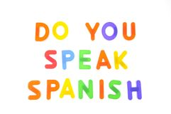 Do you speak spanish. Stock Photos