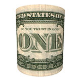 Do You trust in God? - one U.S. dollar banknote Royalty Free Stock Photos
