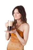 Do you want a mug of kvass? Stock Photo