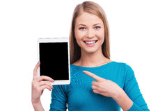 Do you want such tablet? Stock Photography