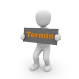 Termin. Do you want to make an appointment with us, then click here royalty free illustration