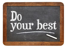 Do your best on blackboard Royalty Free Stock Images