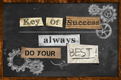 Do Your Best - Key Of Success. Wallpaper Royalty Free Stock Photo