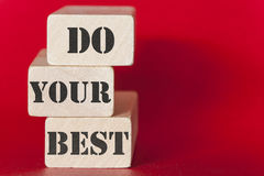 Do your best. Motivational message Royalty Free Stock Photography