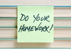 Do your homework sign Stock Images