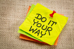 Do it your way reminder note Stock Photo