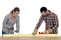 Do-it-yourself. A couple doing some DIY Stock Photo