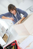 Do-it-yourself activity at home Royalty Free Stock Photo