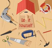 Do it yourself bird house. Illustration stock illustration