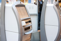 Do-it-yourself check-in device. At the airport Stock Images