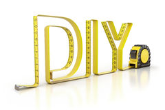 Do it Yourself concept. 3D Do it Yourself concept with tape measure Stock Photos