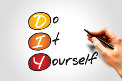 Do It Yourself. (DIY), business concept acronym Royalty Free Stock Images