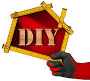 Do It Yourself - DIY -  Sign Shaped House Stock Photos