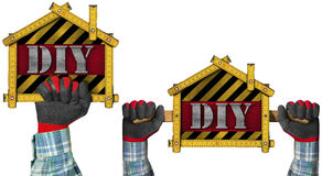 Do It Yourself - DIY -  Sign Shaped House Stock Photo
