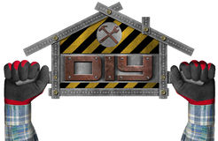 Do It Yourself - DIY -  Sign Shaped House Royalty Free Stock Images