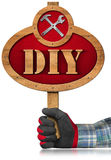 Do It Yourself - DIY - Wooden Sign Stock Photography