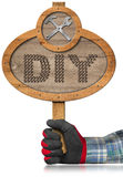 Do It Yourself - DIY - Wooden Sign Royalty Free Stock Image