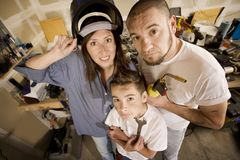 Do-It-Yourself family Royalty Free Stock Image