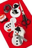 Do it yourself felt snowman Royalty Free Stock Photography