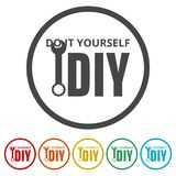 Do it yourself icon, DIY icon, 6 Colors Included. Simple  icons set Stock Photo