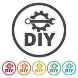 Do it yourself icon, DIY icon, 6 Colors Included. Simple vector icons set Royalty Free Stock Image