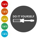 Do it yourself icon, DIY icon. Simple vector icons set Stock Images
