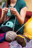 Do it yourself knitting Stock Image