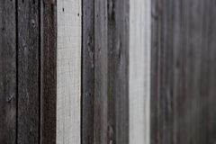 Do it yourself natural wooden fence Stock Photography