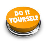 Do it Yourself - Orange Button Stock Photography