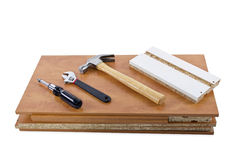 Do-It-yourself Project. Building a shelf or drawer furniture on white background Stock Photo