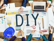 Do It Yourself Project Graphics Concept Royalty Free Stock Images