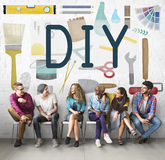 Do It Yourself Project Graphics Concept Stock Photo