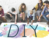 Do It Yourself Project Graphics Concept Stock Photography