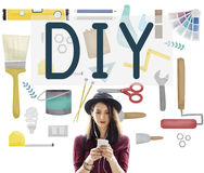 Do It Yourself Project Graphics Concept Royalty Free Stock Image