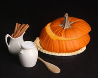 Do it yourself pumpkin pie kit Royalty Free Stock Images