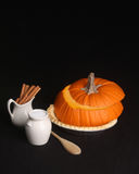 Do it yourself pumpkin pie kit with copy psace Royalty Free Stock Photo