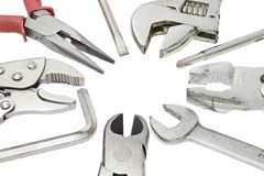 Do it yourself tools. On white background Stock Photography