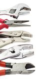 Do it yourself tools. With copy space on white background Royalty Free Stock Image