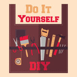 Do It Yourself tools on apron Royalty Free Stock Photos
