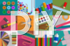 Do-it-yourself. Variety of subjects and tools Royalty Free Stock Photo