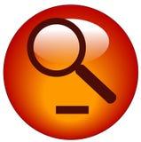 Do zoom ícone para fora ilustração stock