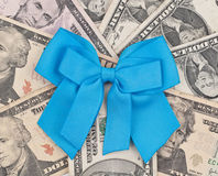 Doação da fita azul fotografia de stock